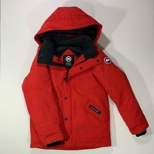 Canada Goose Logan Down Parka in Red Big Kid Youth